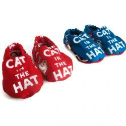Baby Shoes, Baby Booties - Dr. Seuss The Cat In The Hat , Red Or Blue